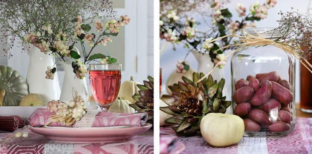 gedeckter Tisch rosa