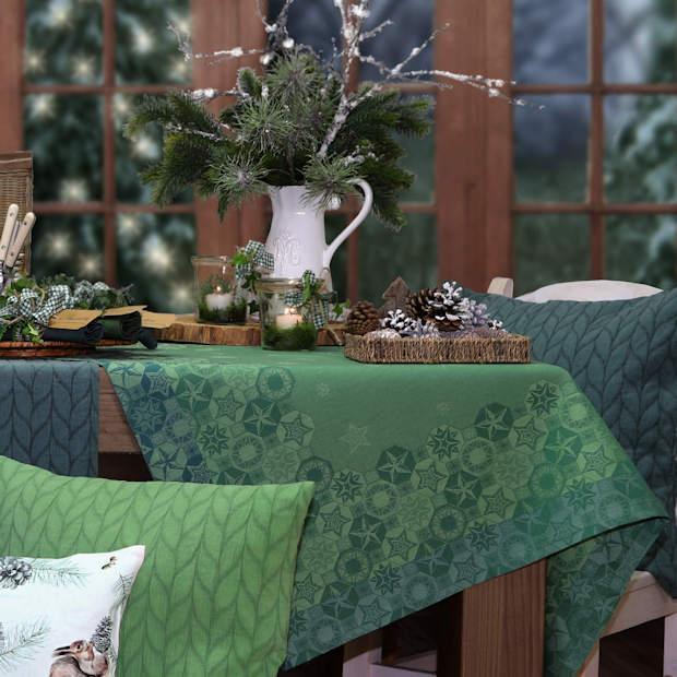 Tischdecke für Weihnachten grn