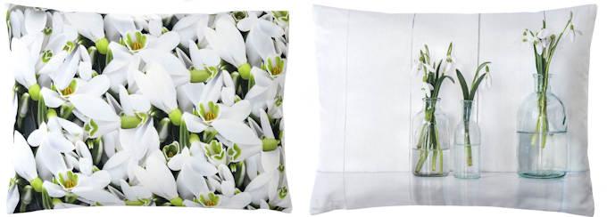 Schneeglöckchen Kissen Digitaldruck