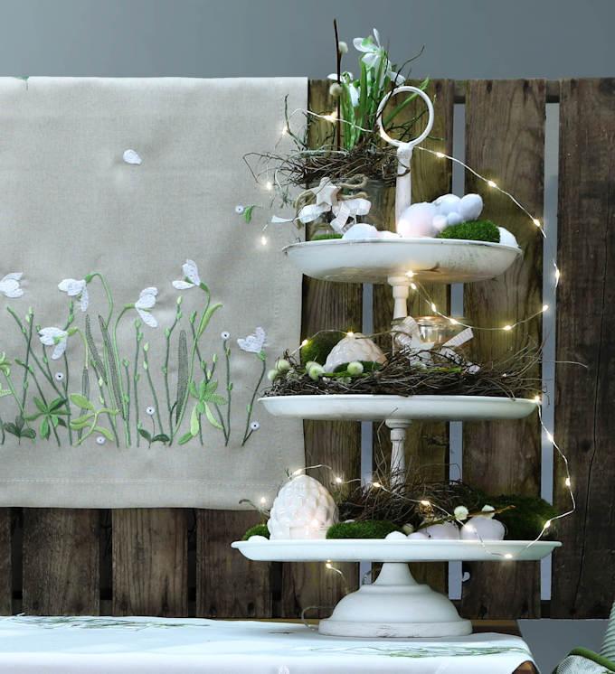 dekotipp im januar winterzauber mit schneegl ckchen tisch decken. Black Bedroom Furniture Sets. Home Design Ideas