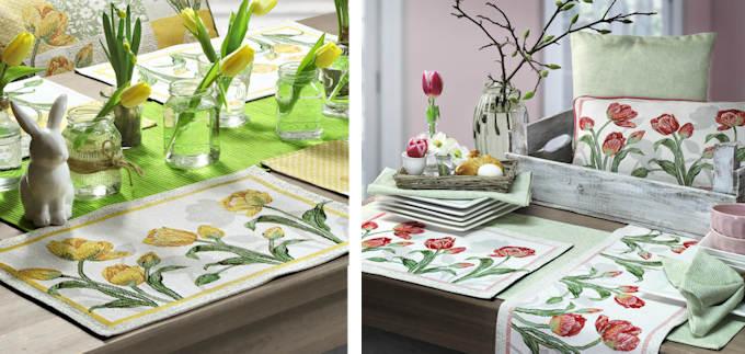 sander Tischsets Tulpen irosa oder gelb