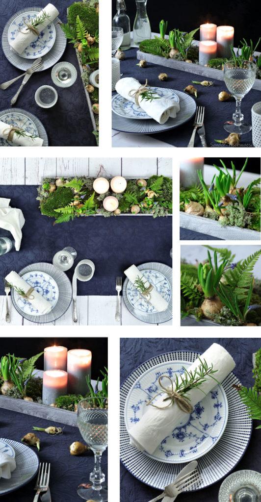 Tischdeko Ideen blau