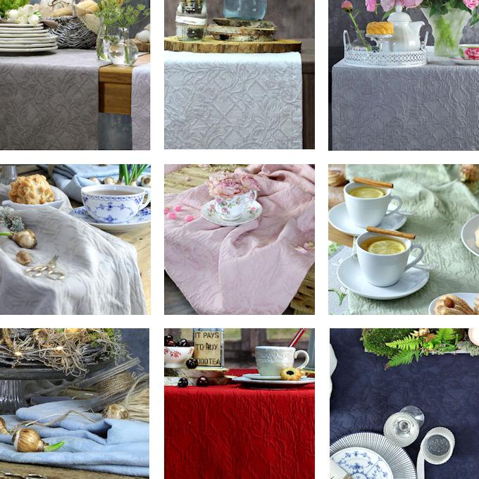 Tischdecken und Tischläufer Sander Tischwäsche