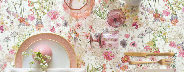Tischdecke Blumen