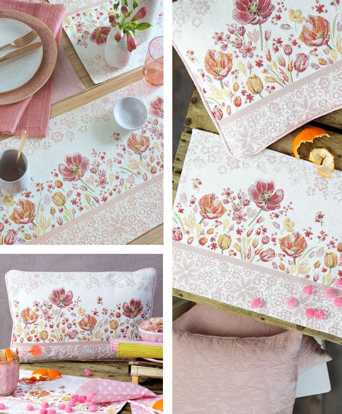 rosa Tischsets gobelin