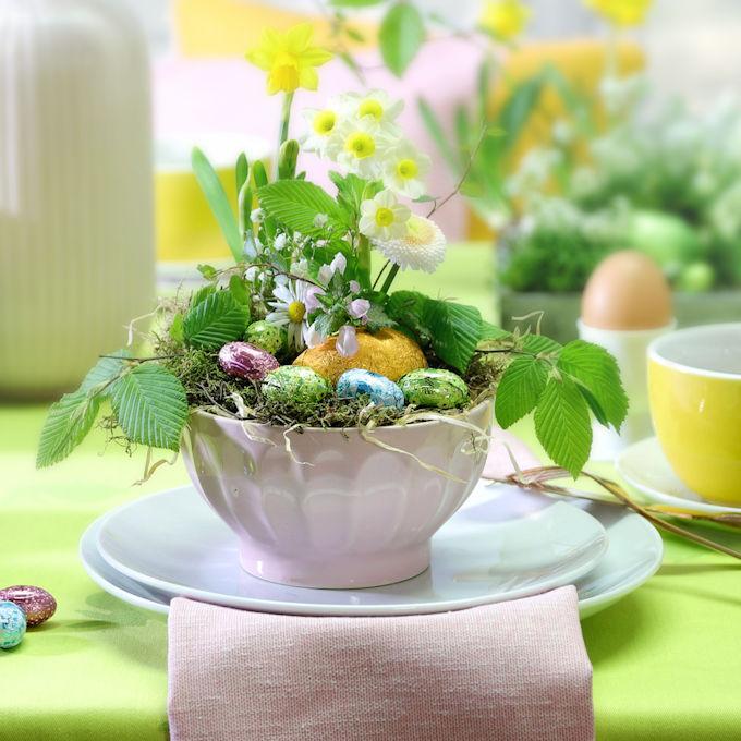 Tischdekorationen für Ostern