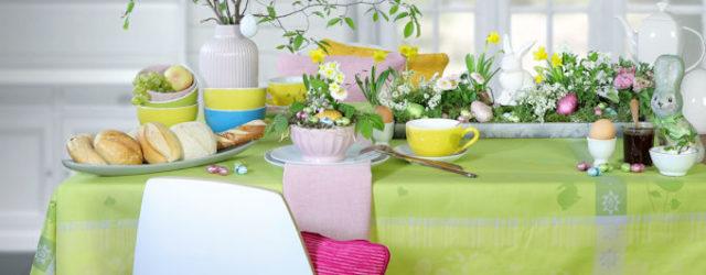 Ostertisch - Tischdeko