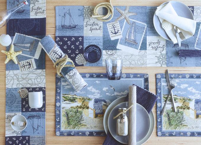 Maritime Tischsets und Tischläufer