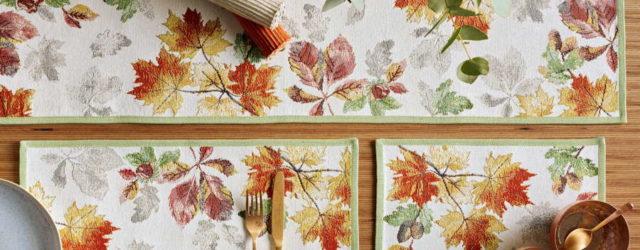 Tischsets Herbst Laub Blätter