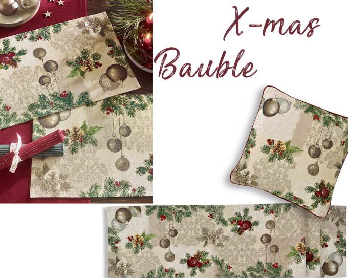 Weihnachtstischsets und Tischläufer Gobelin von Sander