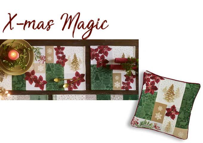 Weihnachtskissen Gobelin X-MAS MAGIC
