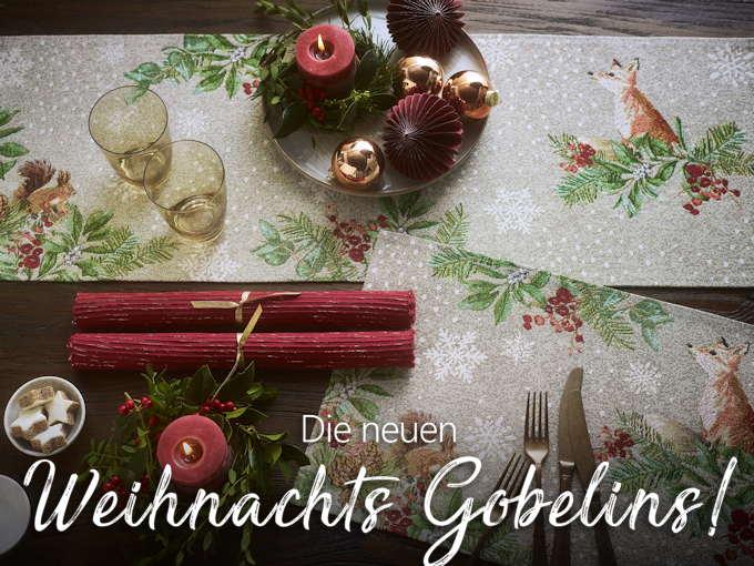 Sander Gobelin Tischläufer Weihnachten