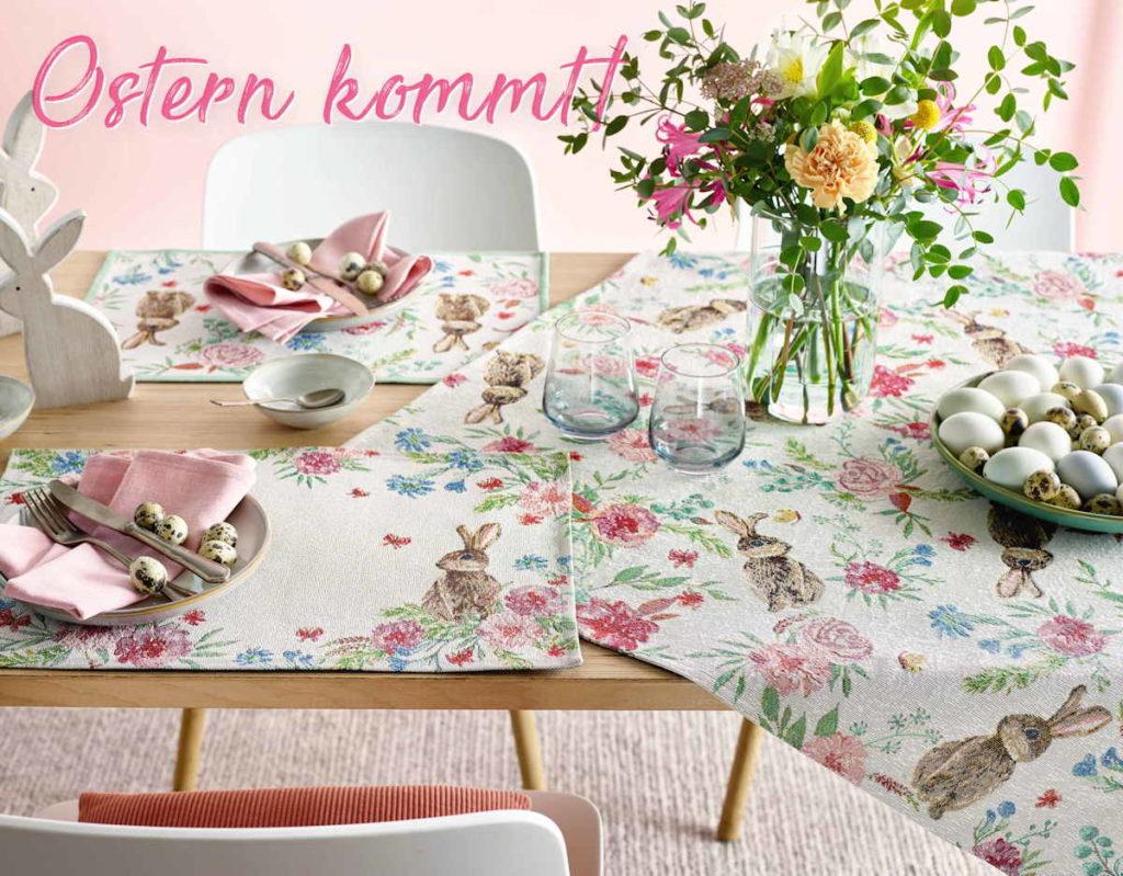 Tischwäsche Ostern von Sander - die neue Kollektion
