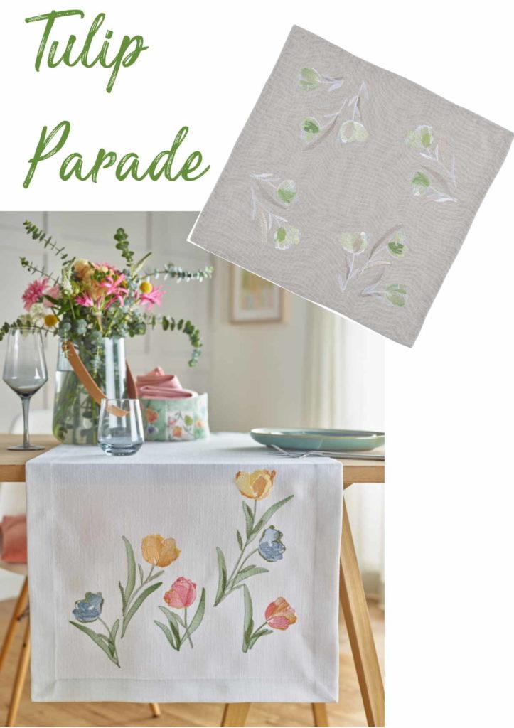 Tischläufer und Mitteldecke Tulpen von Sander