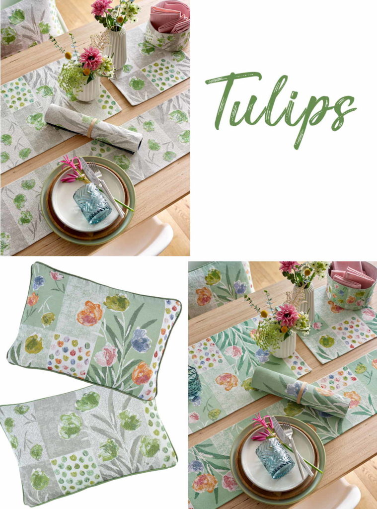 Sander Gobelin Tischsets und Tischläufer Tulpen Frühjahr / Ostern 2020