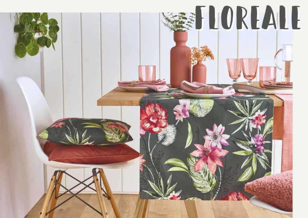 Sander Tischwäsche Tischläufer Blumen FLOREALE