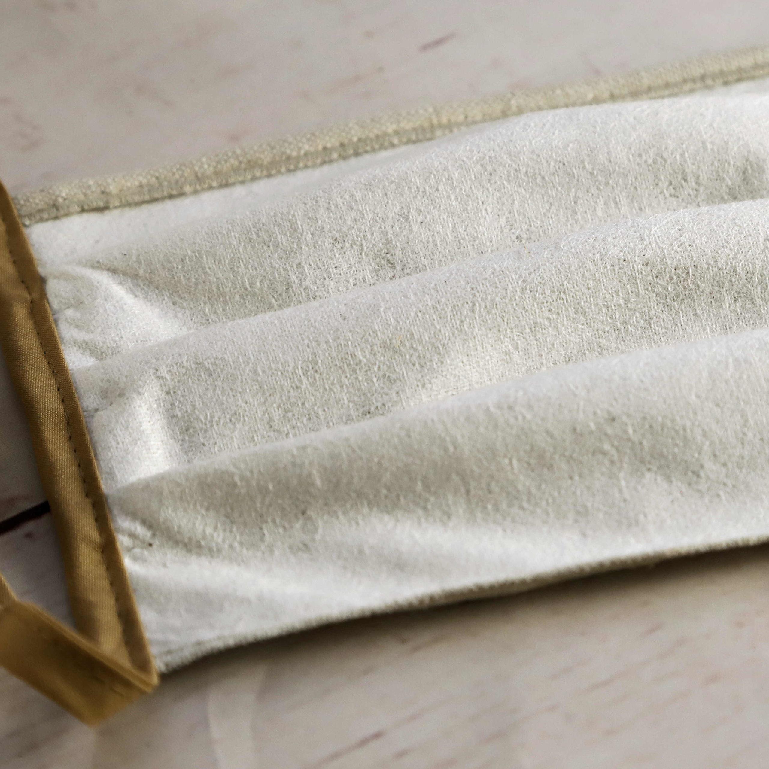 Alltagsmasken aus Leinen mit Vlies-Futter