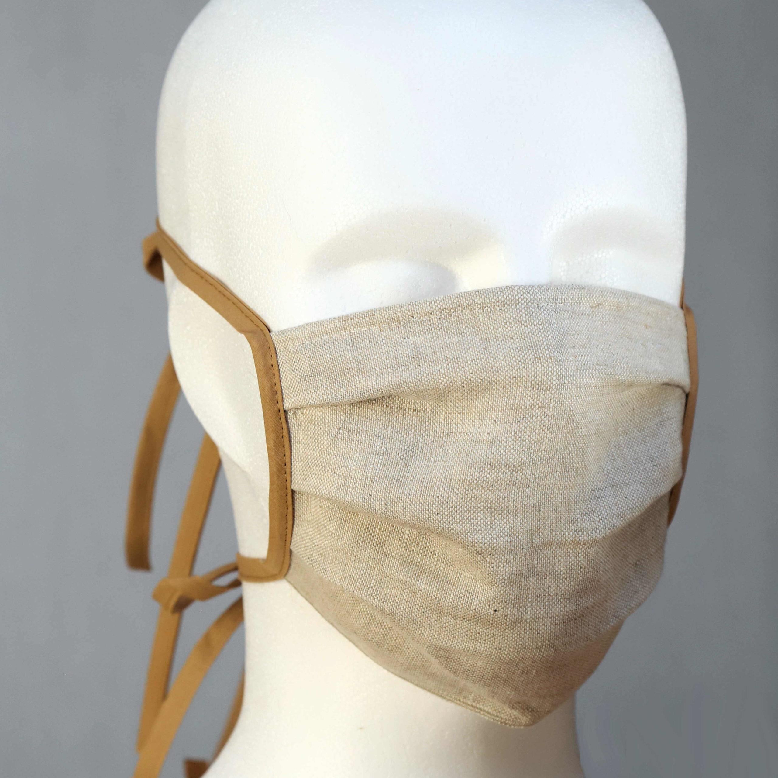 Alltagsmaske aus Leinen