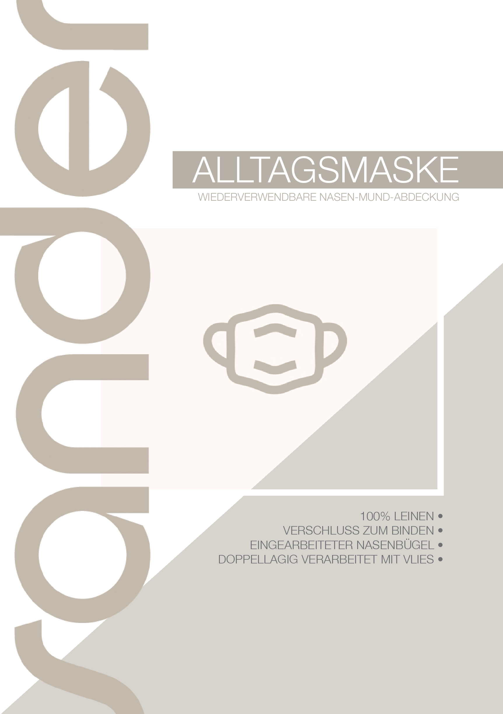 Alltagsmaske / Community Maske von Sander
