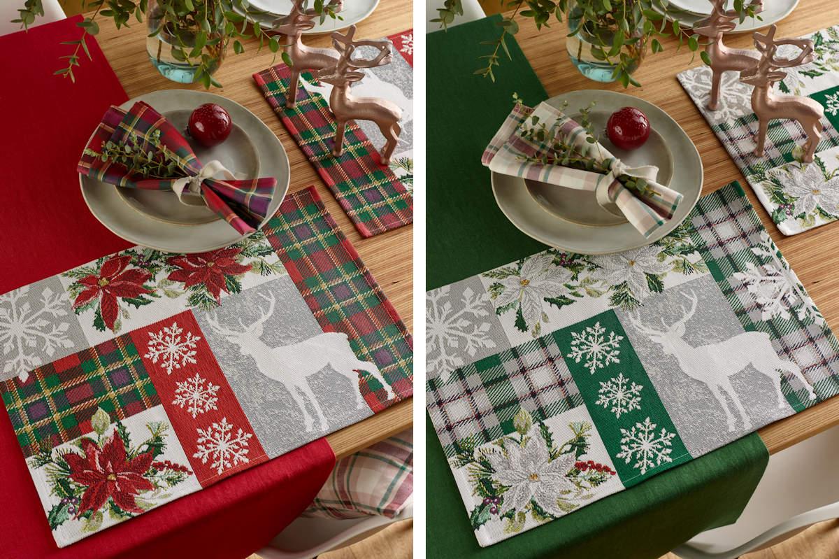 Weihnachtstischsets aus Gobelin bei Sander Tischwäsche