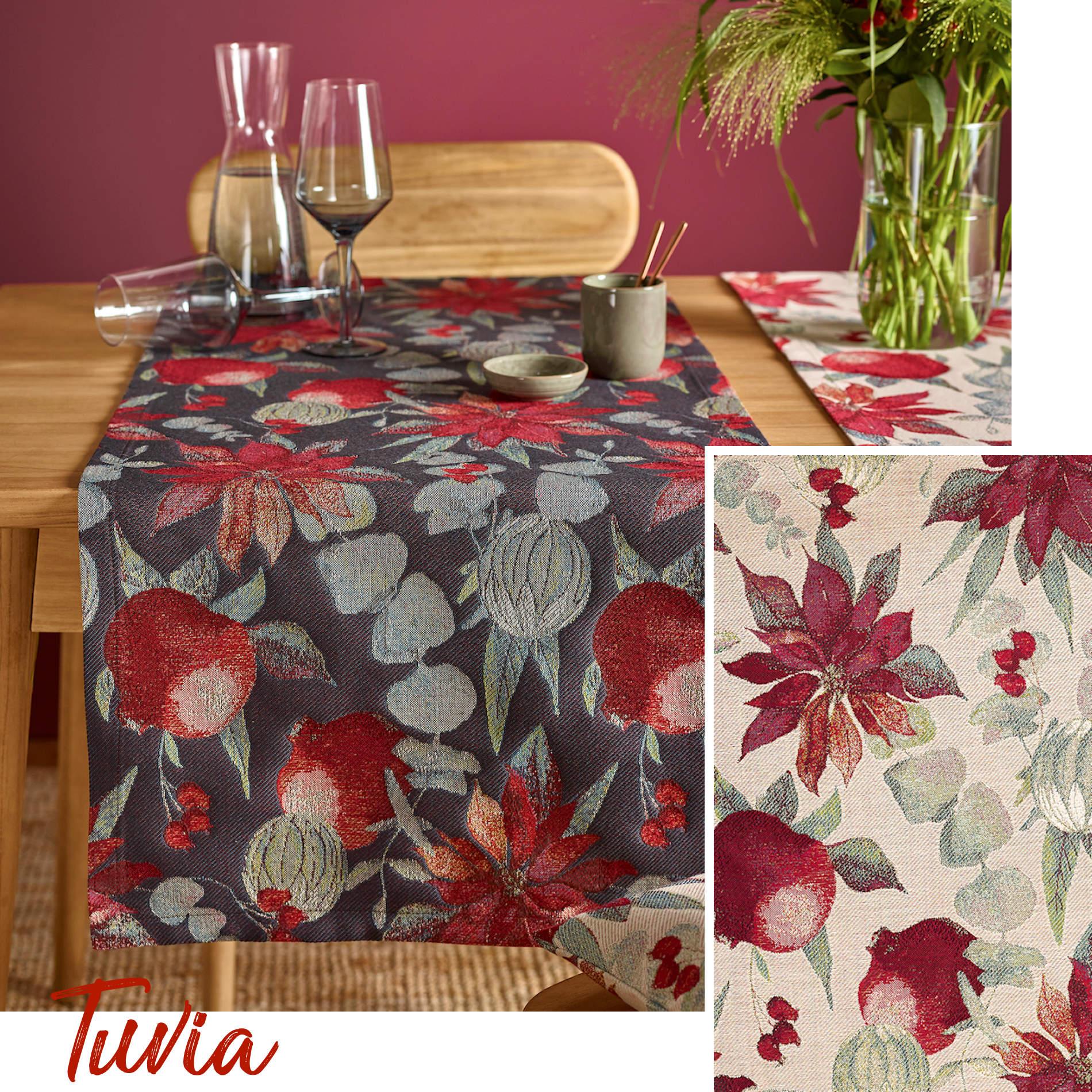 Tischläufer Blumen Sander Herbst